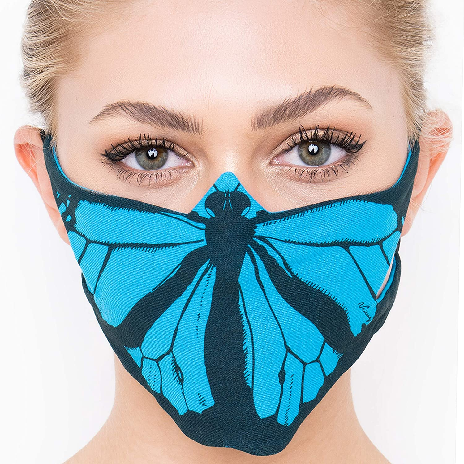Stylish Handmade Mask with Chicago Mall Filter Women Cotton Inventory cleanup selling sale Facemask; Pocket.