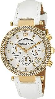Michael Kors Womens Quartz Watch, Analog Display and Leather Strap MK2290