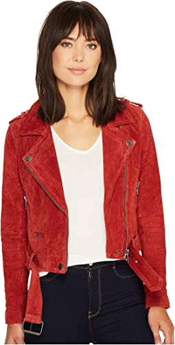 Moto Jacket in Red My Mind