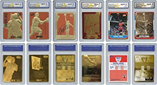 The 6 Greatest MICHAEL JORDAN Fleer Cards Ever Assembled all Graded Gem-Mint 10