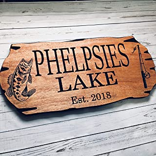 Personalized Cabin Sign Outdoor Sign Custom Wooden Carved Family Name Sign Engraved Wood
