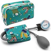 AIESI Esfigmomanometro Tensiómetro Manual Pediatrico Profesional Aneroide clásico con brazalete de colores para ninos DOCTOR PRECISION CHILD ? Medidor de presión sanguinea mecánico ? Garantía 24 meses