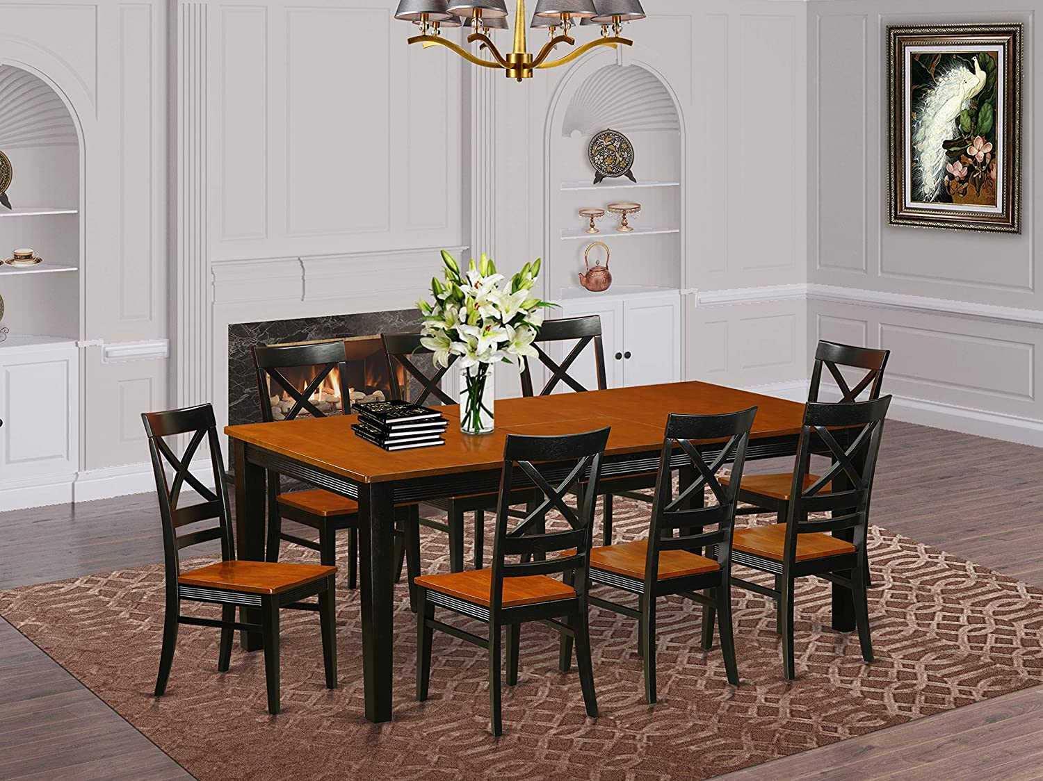 9 Pc Dining room set Dining Table and 9 Dining Chairs