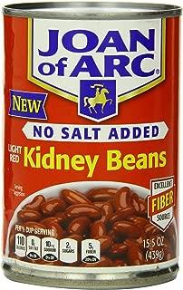 Joan of Arc Light Red Kidney Beans, No Salt Added, 15.5 Ounce (Pack of 12)