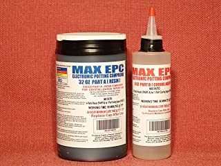 MAX EPC A/B - Electronic Potting Compound for Embedding Electronic Printed Circuit Boards ● Encasing Electrical Circuitry● Waterproofing & Insulating ● High Thermal Conductivity 40 Fl.OZ