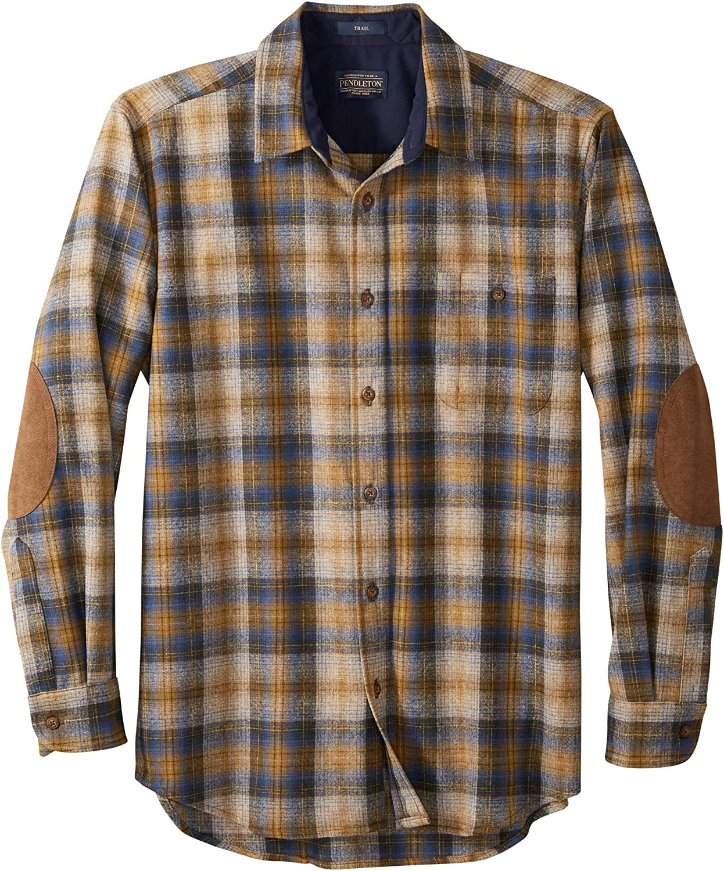 Pendleton, Men's Long Sleeve Button-Front Tall Trail Shirt