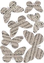 PLAGE 3D Charming Butterfly stickers Concerto [7 vlinders tussen 8 x 6,5 cm en 14 x 11 cm], plastic, beige, 14 x 0,1 x 11 ...