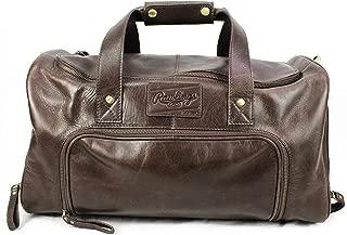 rawlings leather duffle bag
