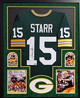 Bart Starr Green Bay Packers Autograph Signed Custom Framed Jersey Suede Matted Green Tristar Authentic Certified
