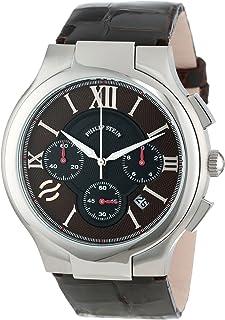 Philip Stein Men's 45-CRBRN-ACHS Round Brown Chronograph Dial Chocolate Alligator Strap Watch