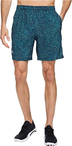 UA Launch Stretch Woven Print Shorts