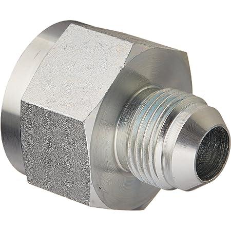 1-7//8-12 SAE x 1-5//8-12 SAE Thread 1-1//2 Female JIC x 1-1//4 Male JIC 2.150 Length Brennan Industries 2406-24-20 Steel Non-Swivel Straight Reducer 2.250 Hex