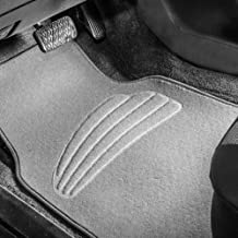 FH Group Gray F14401GRAY Premium Carpet Floor Mats with Heel Pad, Beige Color Fits Most Cars, Trucks, and SUVs