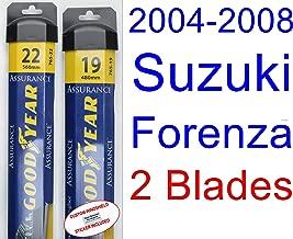 2004-2008 Suzuki Forenza Replacement Wiper Blade Set/Kit (Set of 2 Blades) (Goodyear Wiper Blades-Assurance) (2005,2006,2007)