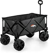 PICNIC TIME NFL Denver Broncos Elite Edition Collapsible Adventure Wagon with All-Terrain Wheels