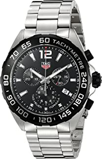 Men's 'Formula 1' Swiss Quartz Stainless Steel Dress Watch, Color:Silver-Toned (Model: CAZ1010.BA0842)