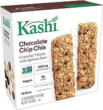 Kashi Crunchy Chocolate Chip Chia Granola Bars - Vegan | 5 Pouches, 2 Bars Per Pouch