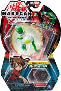 Bakugan Ultra, Diamond Trox, 3-inch Tall Collectible Transforming Creature, for Ages 6 and Up