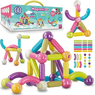 Magnetic Balls and Rods Set | 34 PCS Educational Magnet...