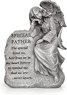 Besti Garden Memorial Stone Angel Statue – Special Father Stone Angel with Inspirational Quote