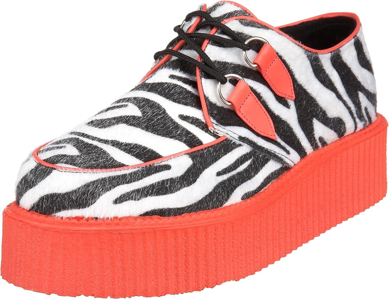 Demonia V-creeper-507UV - UV-reaktive gothic punk industrial creeper shoes 3,5-13