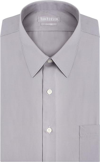 G.H. Bass & Co. Van Heusen Men's Regular Fit Oxford Button Down Collar Dress Shirt, Khaki, X-Large