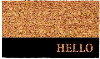 Calloway Mills AZ104863672 Hello Black Stripe Doormat, 3' x 6'