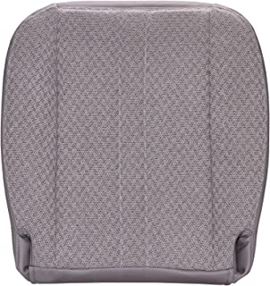 The Seat Shop Work Van Driver or Passenger Bottom Replacement Seat Cover - Medium Dark Pewter (Gray) Cloth (Compatible with 1996-2002 Chevrolet Express and GMC Savana)