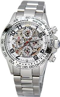 [ジョンハリソン]J.Harison 腕時計 自動巻き ホワイト文字盤 JH-003SW メンズ