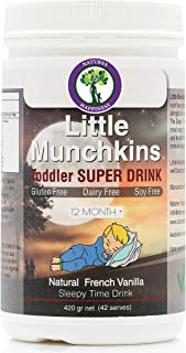 Little Munchkins Evening Toddler Nutritious Plant Based Vegan Sleepy Time Supplement with Vitamins and Minerals for a Good...