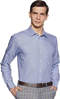 Arrow Men's Plain Regular Fit Formal Shirt, Blue