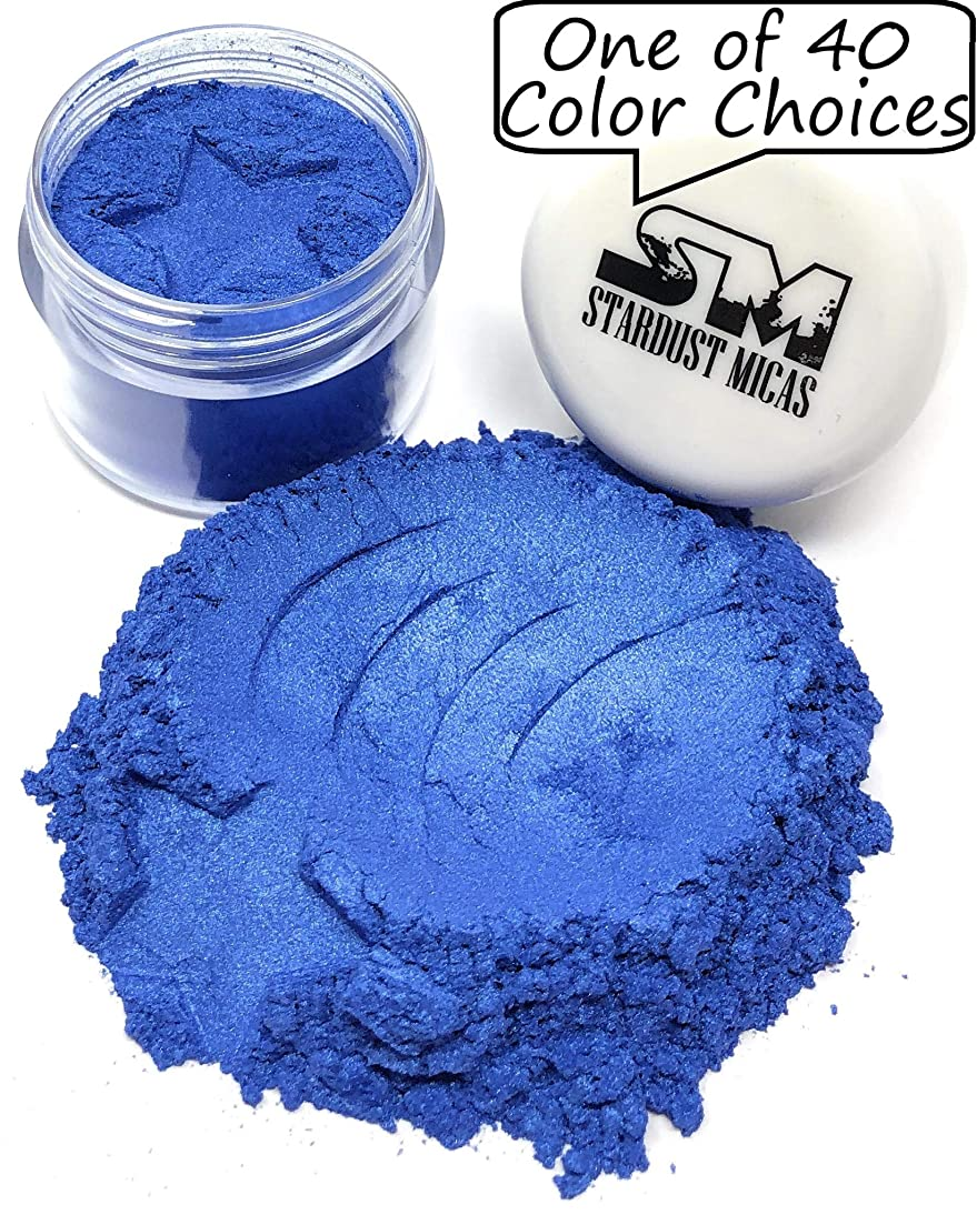 Blue Pigment Powder for Resin, Dark Blue Mica Powder for Cold Process Soap Making, Fingernail Polish, Blue Mica Powder for Melt and Pour, Stardust Mica Pigments (Stormy Skies, 10 Gram Jar)