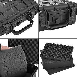 [pro.tec] Maletín Protector para Equipos - 27 x 24,6 x 12,4 cm - Caja Universal - Bolso para Herramientas