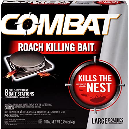 Combat Max 12 Month Roach Killing Bait 18 Count Child-Resistant Small Roach