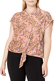 Women's Robyn Tie Front Button Down Shirt