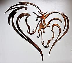 """Mothers Heart Horse Heart Metal Wall Art 12"""" x 13"""""""