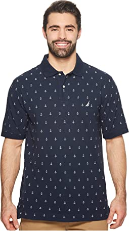 Nautica Big & Tall Big & Tall Printed Deck Polo