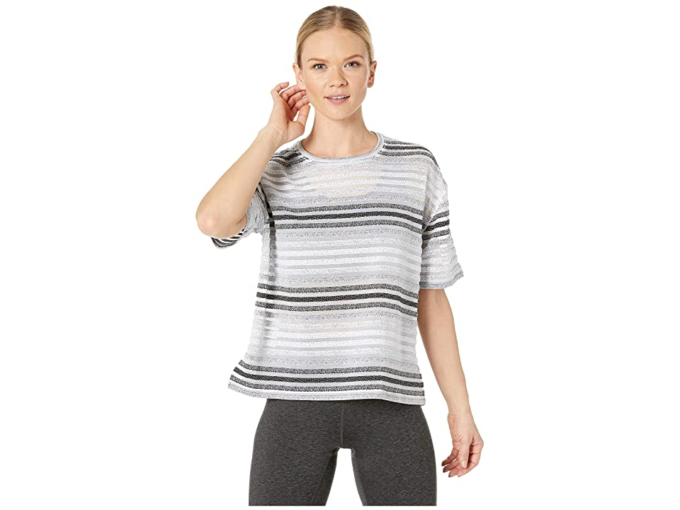 SHAPE Activewear Captivate Tee Striped Mesh Jacquard (Stripe) Women