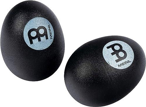 Meinl Percussion ES2-BK - Juego de shakers con forma de huevo, color negro