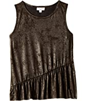 Splendid Littles - Metallic Coated Suede Tank Top (Big Kids)