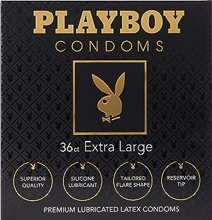 Playboy Condoms Premium Lubricated Condoms, Extra Large, 36 Count