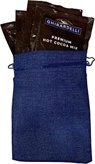 Generic Ghirardelli Hot Cocoa Kosher Gift Bundle of 5 Hot Chocolate Packets 1.5 oz Each and Burlap Gift Bag