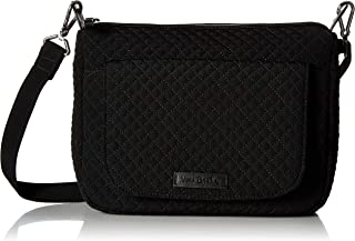 Vera Bradley womens Iconic Shoulder Bag, Microfiber Vera Bradley Women's Microfiber Shoulder Satchel Purse, Classic Black,...