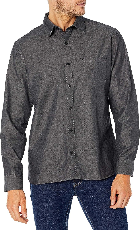 Van Heusen Men's Never Tuck Long Sleeve Button Down Shirt