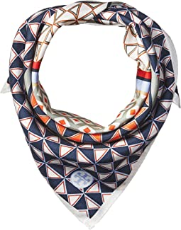 Tory Burch - Mixed Geo Silk Neckerchief Scarf
