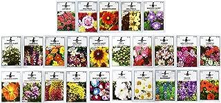Set of 25 Premium Selection Flower Seed Packets! Flower Seeds in Bulk - 25 Deluxe Varieties!