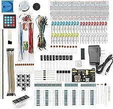 DEYUE 398 Arduino Electronic Starter Fun Kit Bundle   Basic Electronics Components Starter Kit   for Arduino, Raspberry Pi, STM32   Power Supply Module, Power Adaptor, Jumper Wire