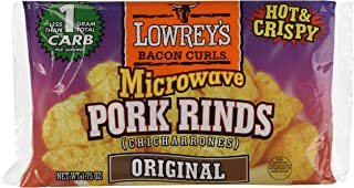 Lowrey's Bacon Curls Microwave Pork Rinds (Chicharrones), Original, 1.75 Ounce