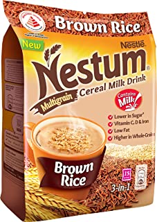 Nestum 3-in-1 Cereal Drink Brown Rice, 27g (Pack of 15)