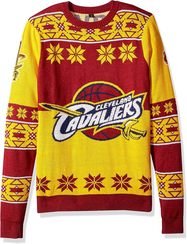 Cleveland Cavaliers Big Regular dealer Logo Bargain sale Ugly Small Crew Neck Sweater